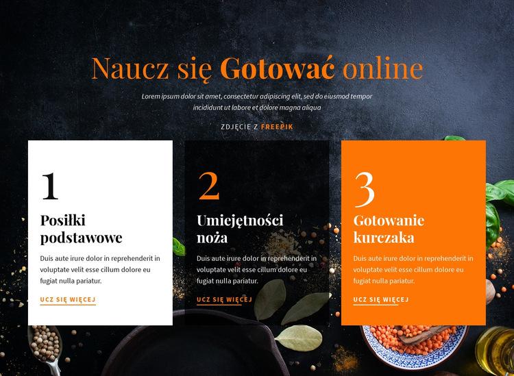 Dowiedz się gotowania online Szablon witryny sieci Web