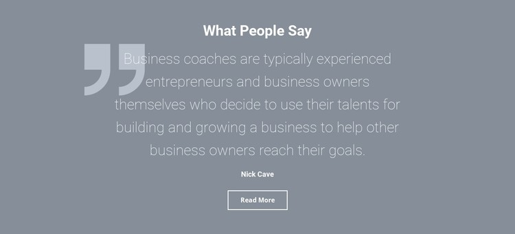 Client testimonials and reviews CSS Template