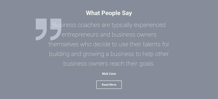 Client testimonials and reviews One Page Template