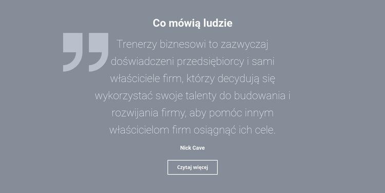 Opinie i recenzje klientów Szablon witryny sieci Web