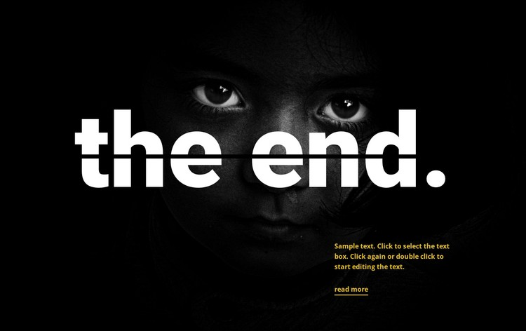 The end WordPress Template