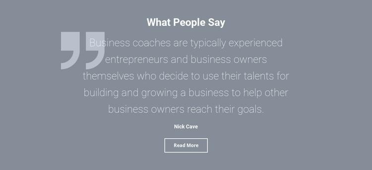 Client testimonials and reviews WordPress Theme