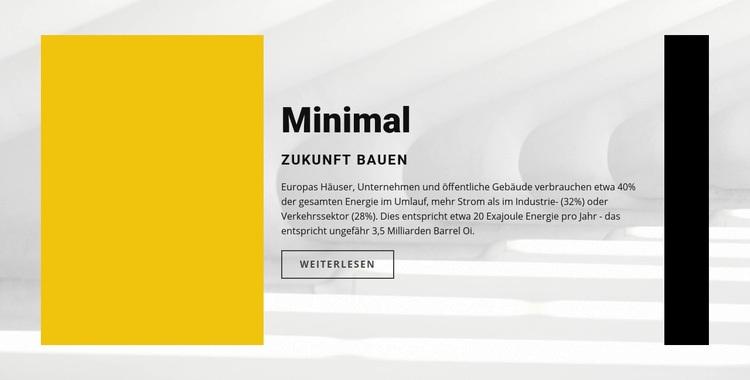 Minimaler Stil Website-Vorlage