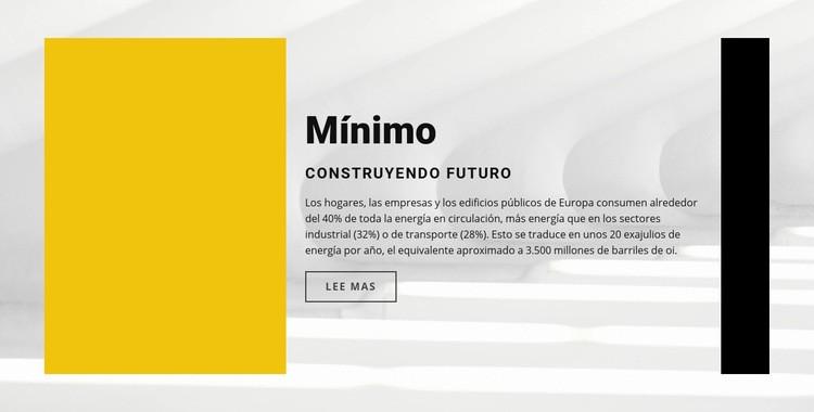 Estilo minimalista Plantilla de sitio web