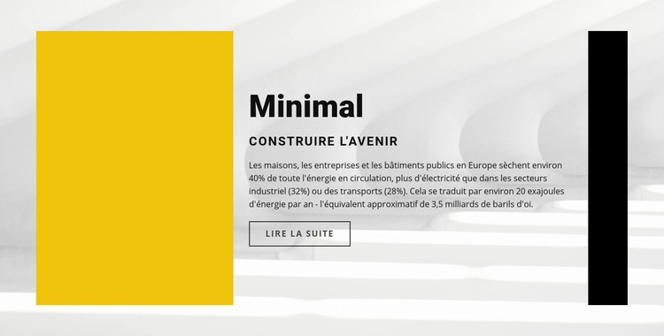 Style minimal Modèle de site Web