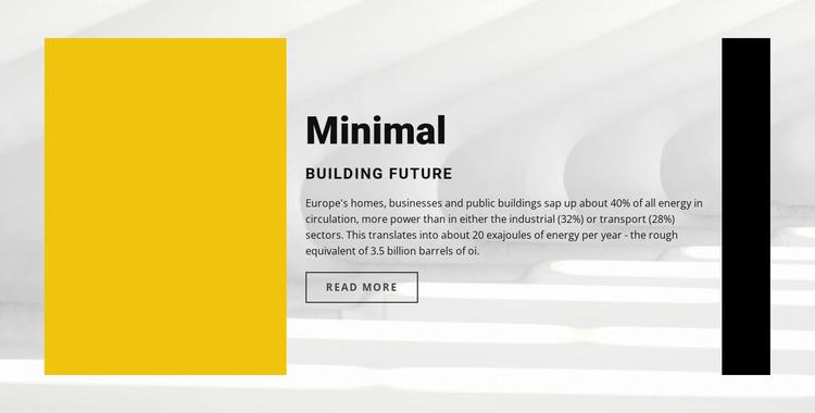 Minimal style Joomla Template