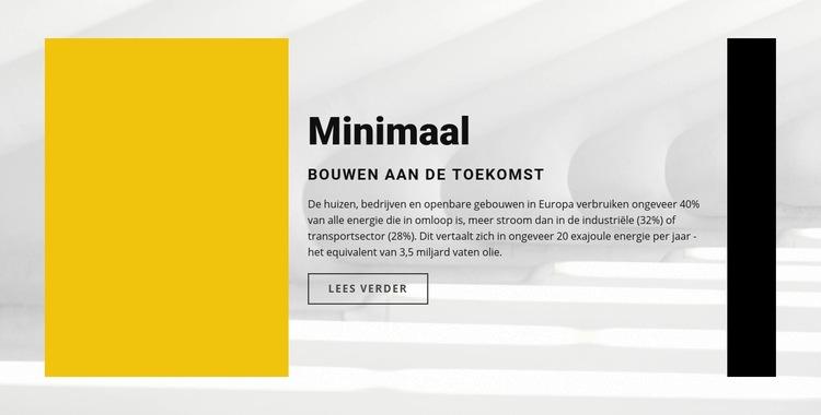 Minimalistische stijl Website sjabloon
