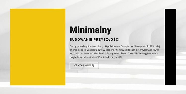 Minimalistyczny styl Szablon witryny sieci Web