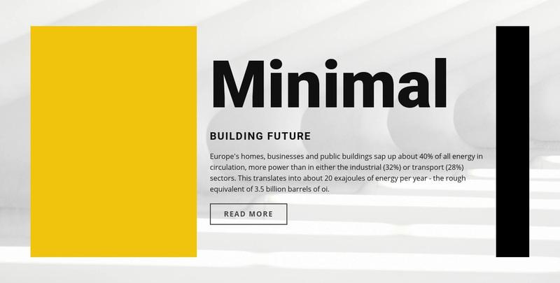 Minimal style Web Page Design