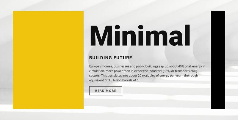 Minimal style Web Page Designer