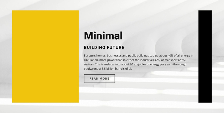 Minimal style Website Builder Software