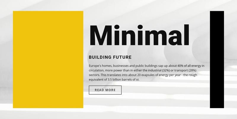 Minimal style Website Maker