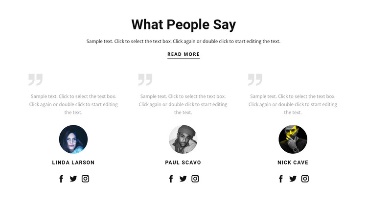 What people say WordPress Theme