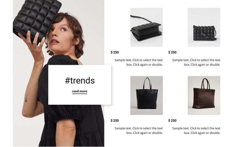 New trends new bags HTML Template