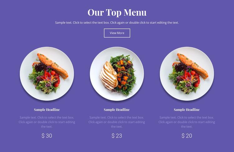 Our top menu Website Builder Software