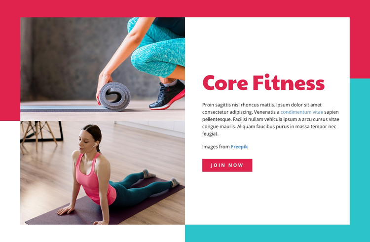 Core Fitness HTML Template
