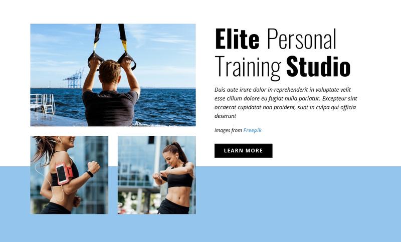 Elite Personal Training Studio Web Page Design