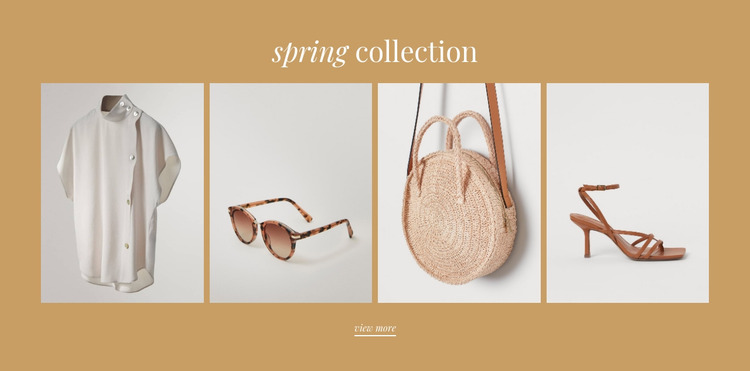 Delicate colors in the collection Html Website Builder