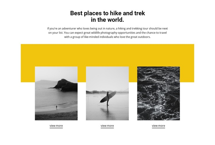 Best places in the world CSS Template