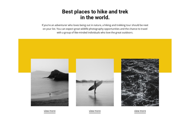 Best places in the world HTML Template
