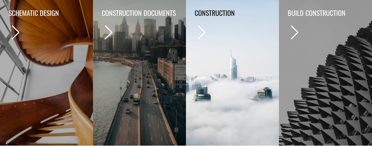 Gallery with architecture style Website Builder Software