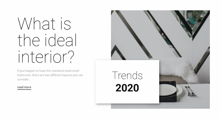 Ideal interiors Landing Page