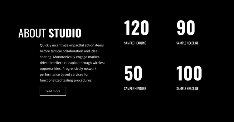 Counter of our successes Website Mockup