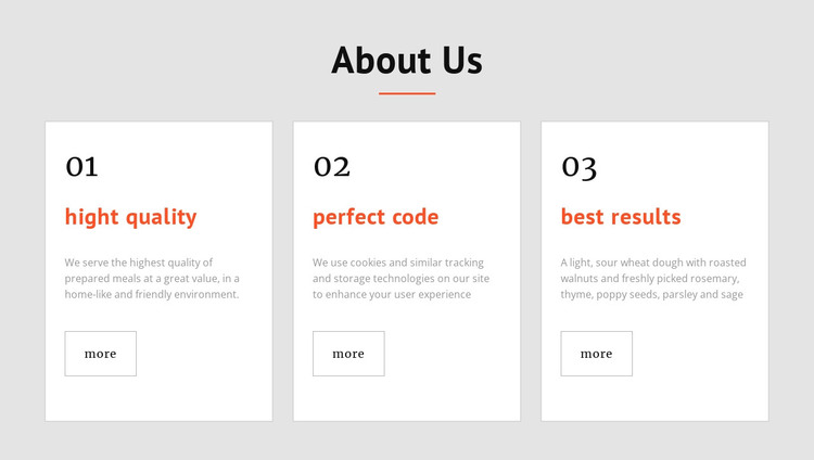 Perfect code using the latest techniques HTML Template