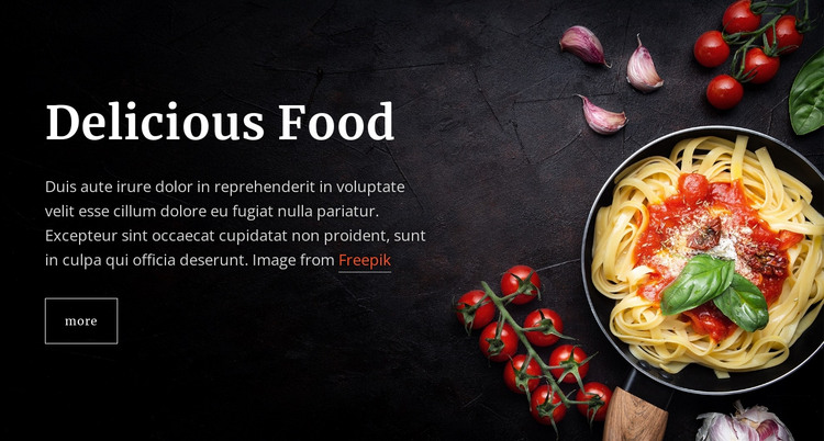 Italian pasta dishes HTML Template