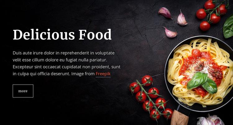 Italian pasta dishes Website Template