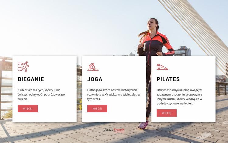 Spersonalizowane treningi Szablon Joomla