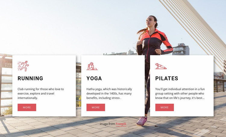 Personalized workouts Website Mockup