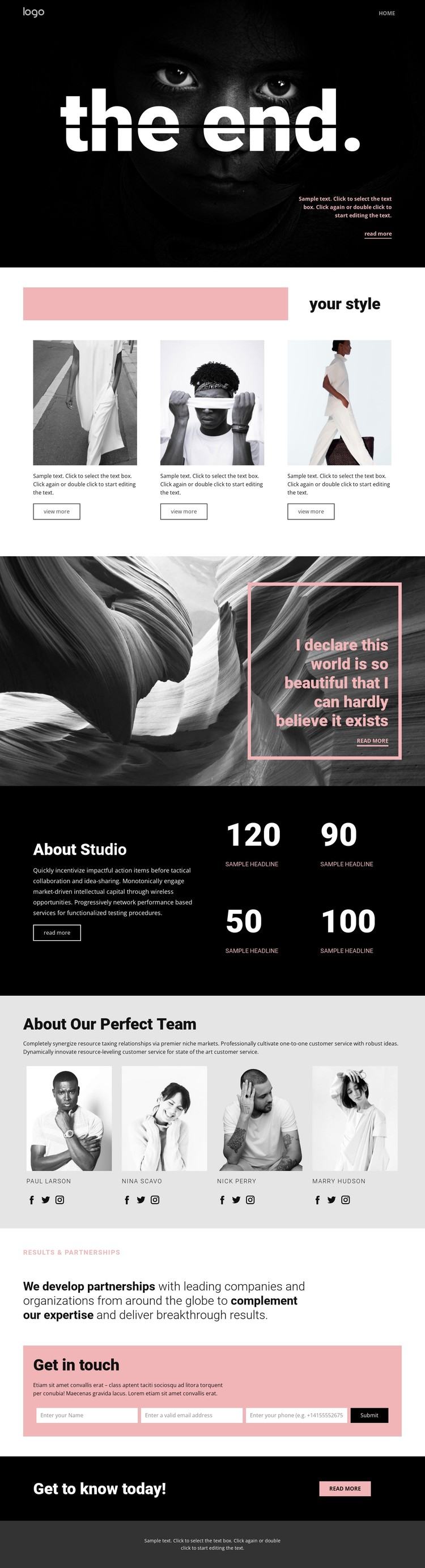 Perfecting styles of art CSS Template