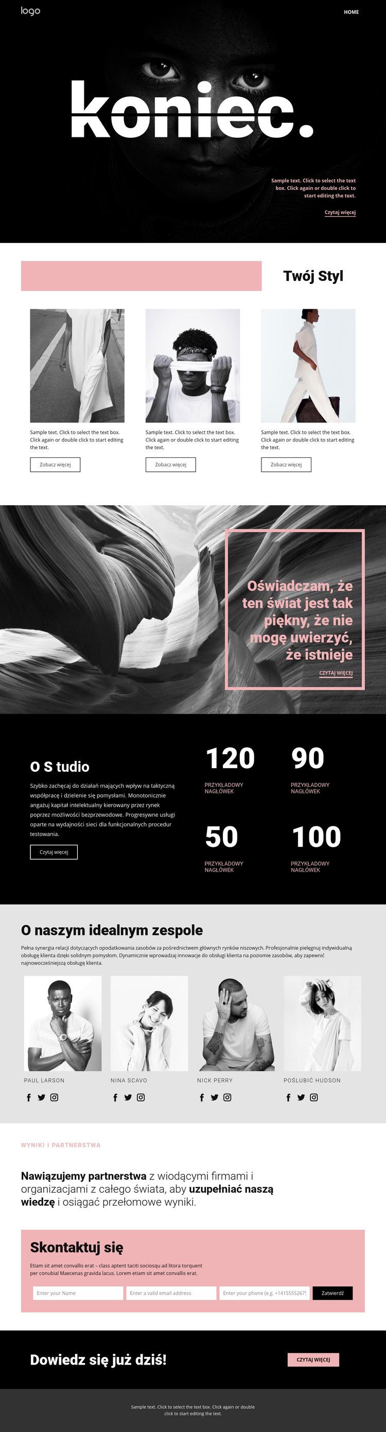 Doskonalenie stylów sztuki Szablon witryny sieci Web