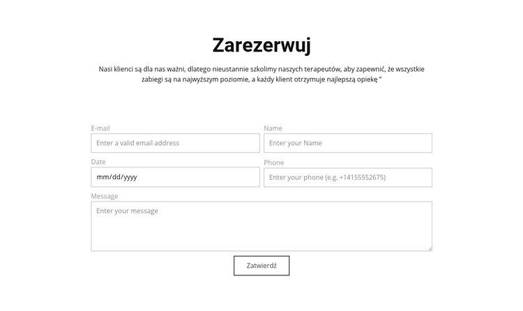 Zamów teraz Szablon witryny sieci Web