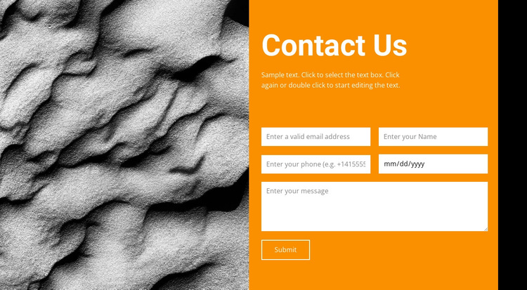 Contact Us HTML5 Template