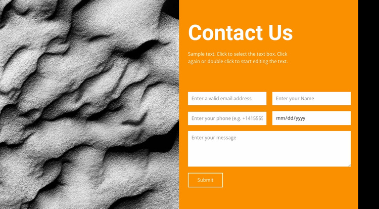 Contact Us Website Template