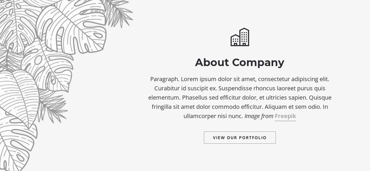 Editorial and graphic desig Website Template