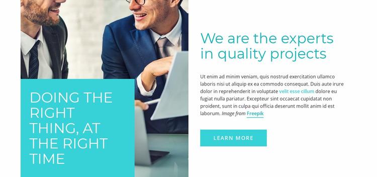 Expert consulting Html Website Builder