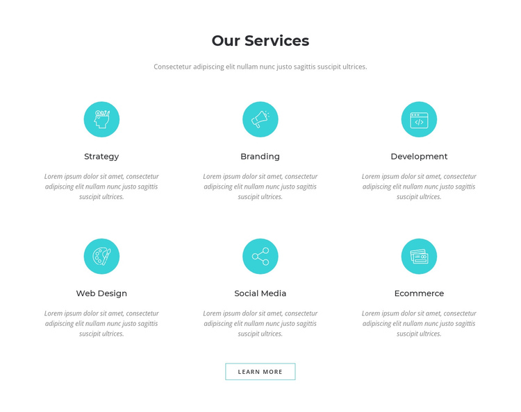 Digital marketing solutions One Page Template