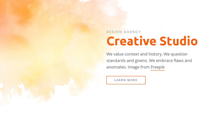 Creative Studio Website Builder Software
