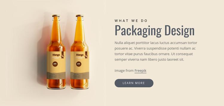 Packaging design HTML Template