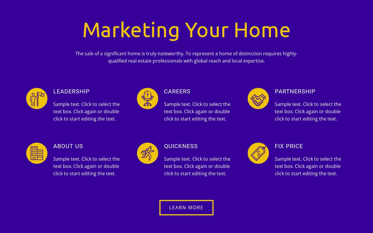 Marketing Your Home Website Template
