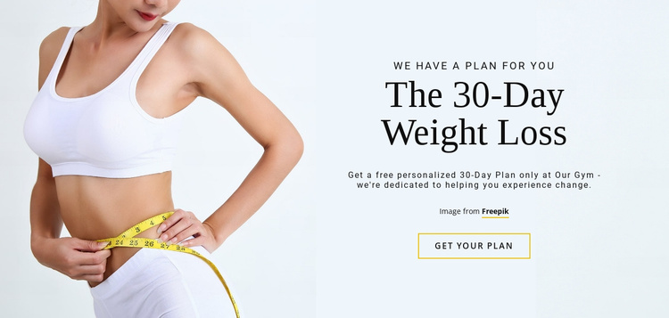 The 30-Day Weight Loss Programm Website Template