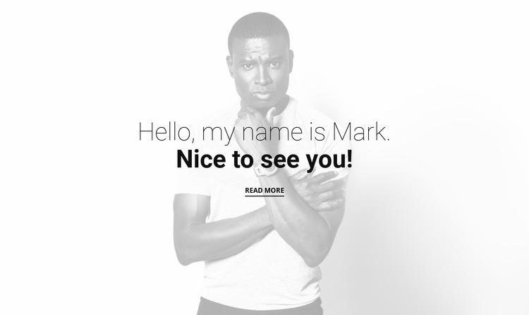 About Mark Studio Website Mockup