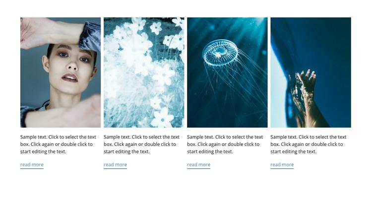 Marine style Homepage Design