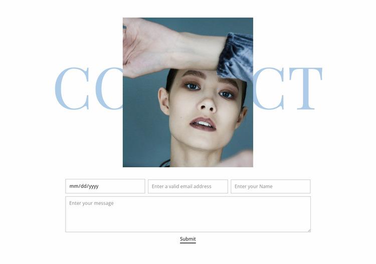Fashion studio contacts Website Mockup
