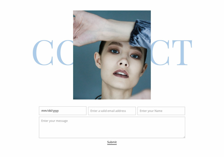 Fashion studio contacts Website Template