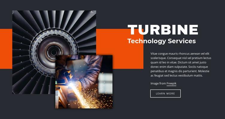 Turbine technologies Website Mockup