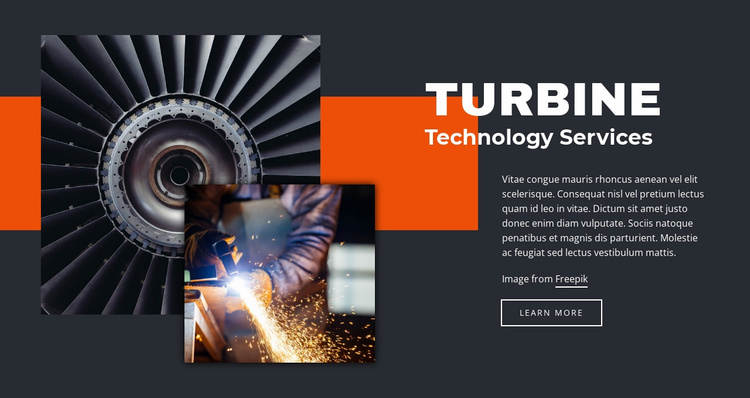 Turbine technologies Website Template
